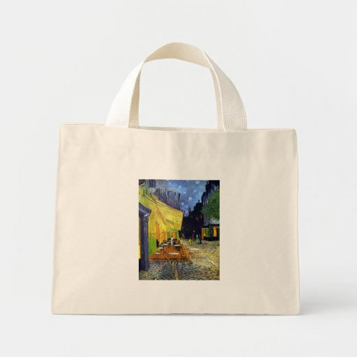 Cafe Terrace at Night Canvas Bag