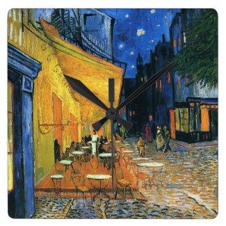 Café Terrace at Night Clock