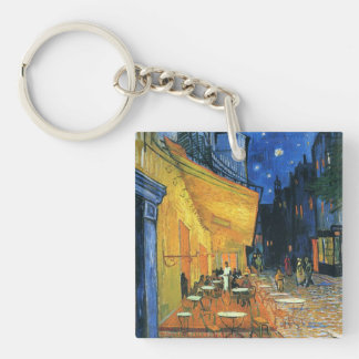 Cafe Terrace at Night Keychain