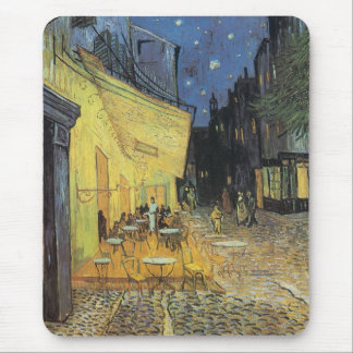 Café Terrace at Night Mouse Pad