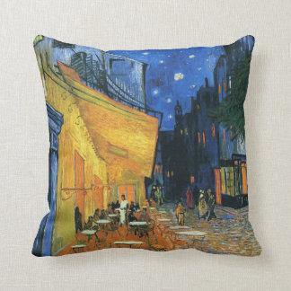 Café Terrace at Night Pillow