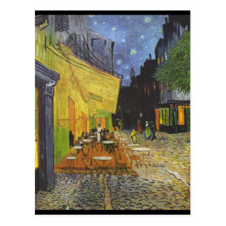 Cafe Terrace at Night Postcard