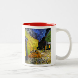Cafe Terrace at Night Two-Tone Coffee Mug