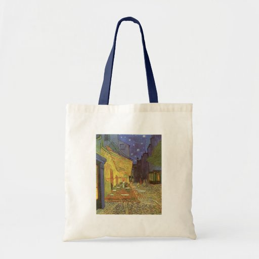 Cafe' Terrace At Night Van Gogh coffeehouse Gifts Tote Bags