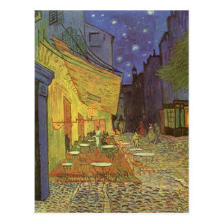 Cafe' Terrace At Night Van Gogh coffeehouse Gifts Postcard