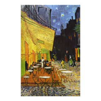 Cafe Terrace at Night Van Gogh Stationery