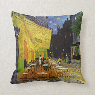 Cafe Terrace at Night Van Gogh Throw Pillow