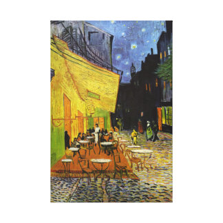 Cafe Terrace at Night Van Gogh Wrapped Canvas