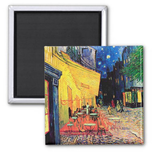 Cafe Terrace at Night, Vincent van Gogh, 1888 Magnet