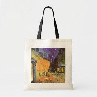 Cafe Terrace Night, van Gogh Vintage Impressionism Canvas Bags
