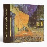 Cafe Terrace Night, van Gogh Vintage Impressionism Vinyl Binders