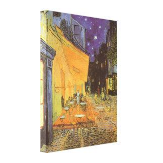 Cafe Terrace Night, van Gogh Vintage Impressionism Stretched Canvas Prints