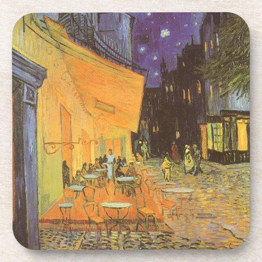 Cafe Terrace Night, van Gogh Vintage Impressionism Coasters