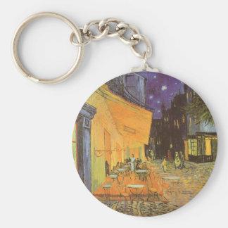 Cafe Terrace Night van Gogh Vintage Impressionism Keychain