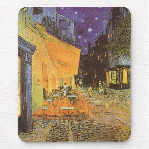 Cafe Terrace Night, van Gogh Vintage Impressionism Mouse Pad