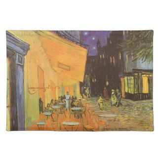 Cafe Terrace Night, van Gogh Vintage Impressionism Placemats