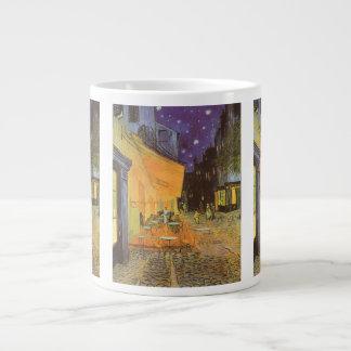 Cafe Terrace Night, van Gogh Vintage Impressionism Jumbo Mugs