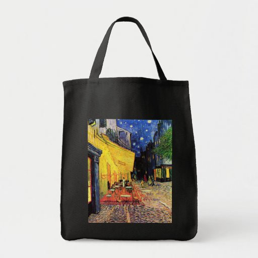 Café Terrace on the Place du Forum, Arles at Night Grocery Tote Bag