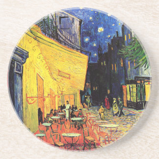 Café Terrace on the Place du Forum, Arles at Night Coaster