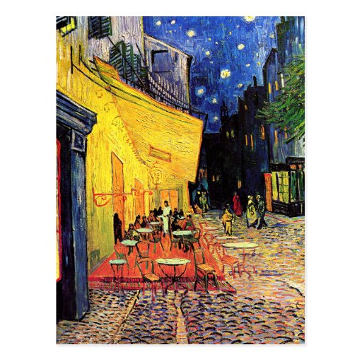 Café Terrace on the Place du Forum, Arles at Night Postcard