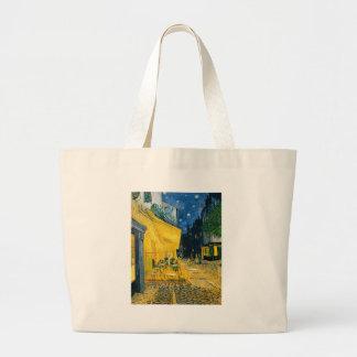 Cafe Terrace, Place du Forum, Arles, 1888 Large Tote Bag