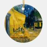 Cafe Terrace, Place du Forum, Arles, 1888 Christmas Tree Ornament