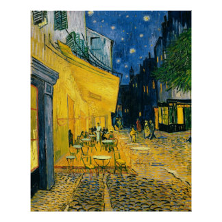 Cafe Terrace, Place du Forum, Arles, 1888 Print