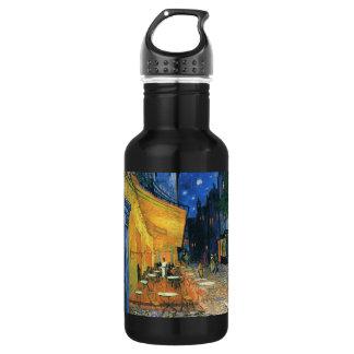 Cafe Terrace, Place du Forum, Arles - Van Gogh Stainless Steel Water Bottle