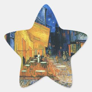 Cafe Terrace, Place du Forum, Arles - Van Gogh Star Sticker