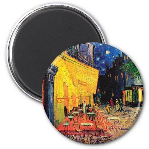 Cafe Terrace Place du Forum Van Gogh Fine Art 2 Inch Round Magnet
