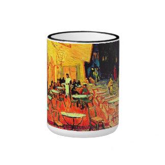 Cafe Terrace Place du Forum Van Gogh Fine Art Ringer Mug