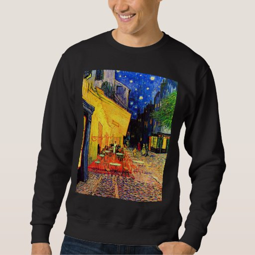Cafe Terrace Place du Forum Van Gogh Fine Art Sweatshirt