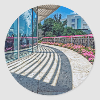 Cafe Terrace View from The Getty Museum Classic Round Sticker