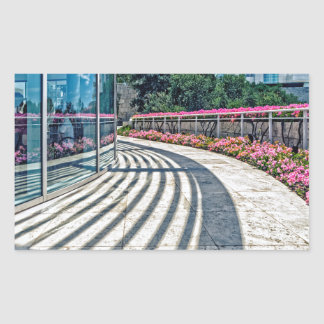 Cafe Terrace View from The Getty Museum Rectangular Sticker