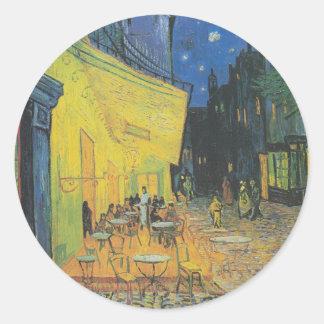 Cafe Terrace - Vincent Van Gogh Classic Round Sticker