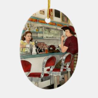 Cafe - The local hangout 1941 Ceramic Ornament