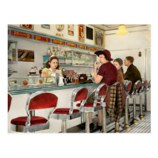Cafe - The local hangout 1941 Postcard