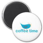 café-tiempo imán para frigorífico