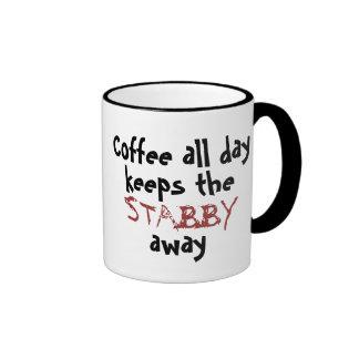 Café todo el día… taza a dos colores
