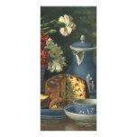 Café, torta, té y flores de la tarde del vintage diseños de tarjetas publicitarias