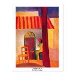 Café turco (i) de Macke agosto Postal