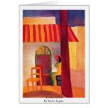 Café turco (i) de Macke agosto Tarjetón