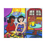 Cafe Uno Stretched Canvas Print