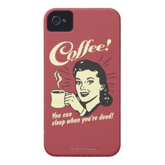 Café: Usted puede dormir cuando absolutamente iPhone 4 Case-Mate Fundas