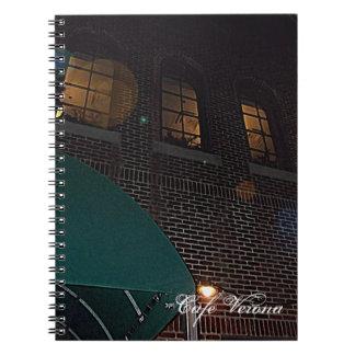 Café Verona en el cuadrado de la independencia, In Spiral Notebooks