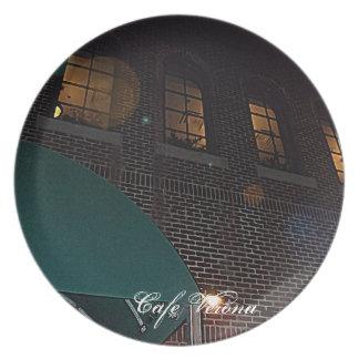 Cafe Verona on Independence Square, Indep. Mo. Melamine Plate