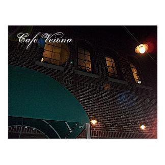 Cafe Verona on Independence Square, Indep. Mo. Postcard