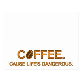 Café. Vida de la causa peligrosa -- cita del café Postales