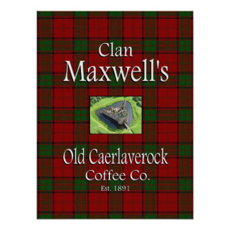 Café viejo Co. de Caerlaverock del maxwell del Póster