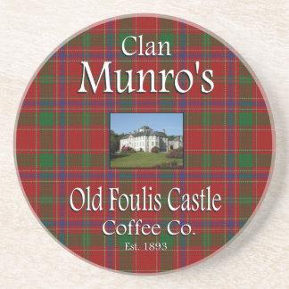 Café viejo Co. del castillo de Foulis de Munro del Posavasos Diseño